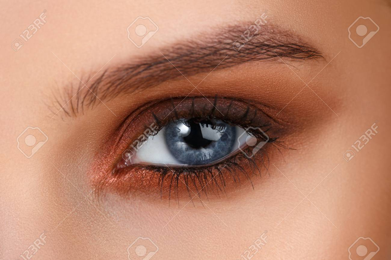 Brown Smokey Blaue Augen Augen Makeup Schöne Augen Make Up