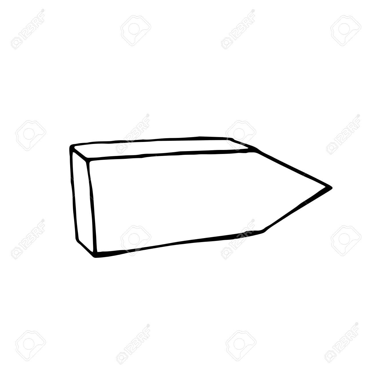 hand drawn arrow vector doodle design element signpost royalty