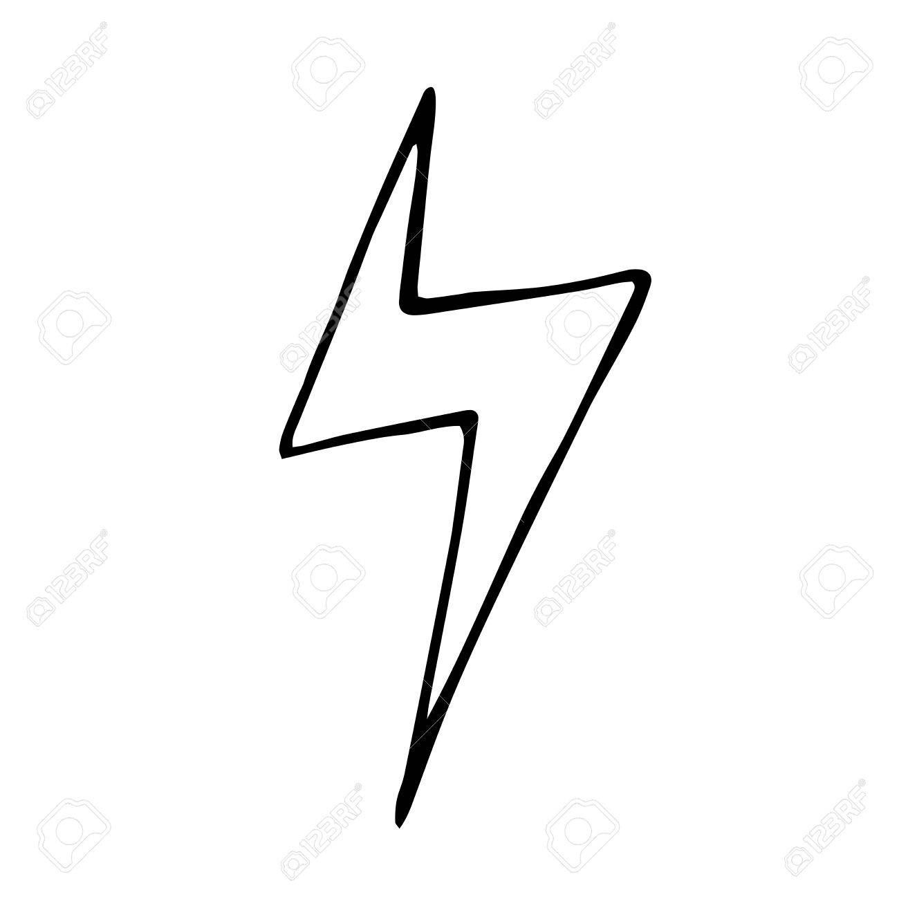 Lightning bolt doodle. vector hand drawn illustration for design light sign Stock Vector -  sc 1 st  123RF Stock Photos & Lightning Bolt Doodle. Vector Hand Drawn Illustration For Design ... azcodes.com