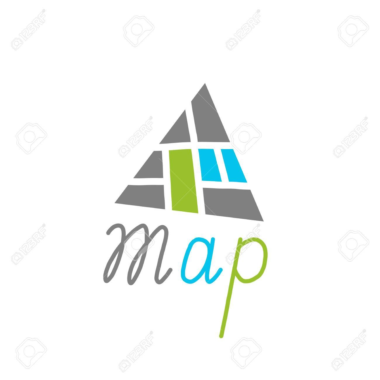 City Map Creative Symbol Concept Flat Maze Logo Design With