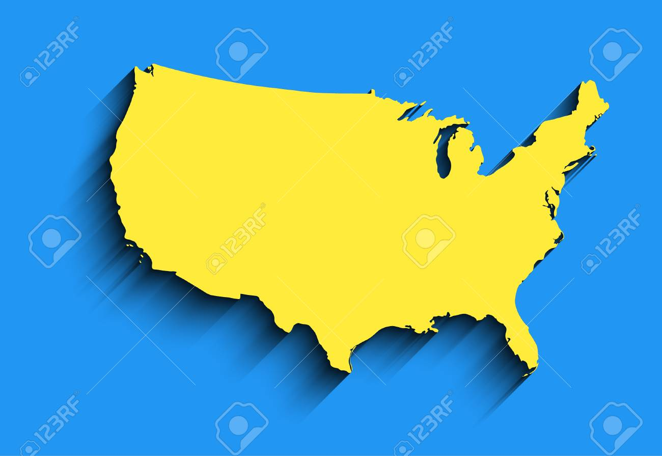 Flat Usa Map. Abstract Vector Background For Wallpaper, Banner. Design  Concept. Clearly