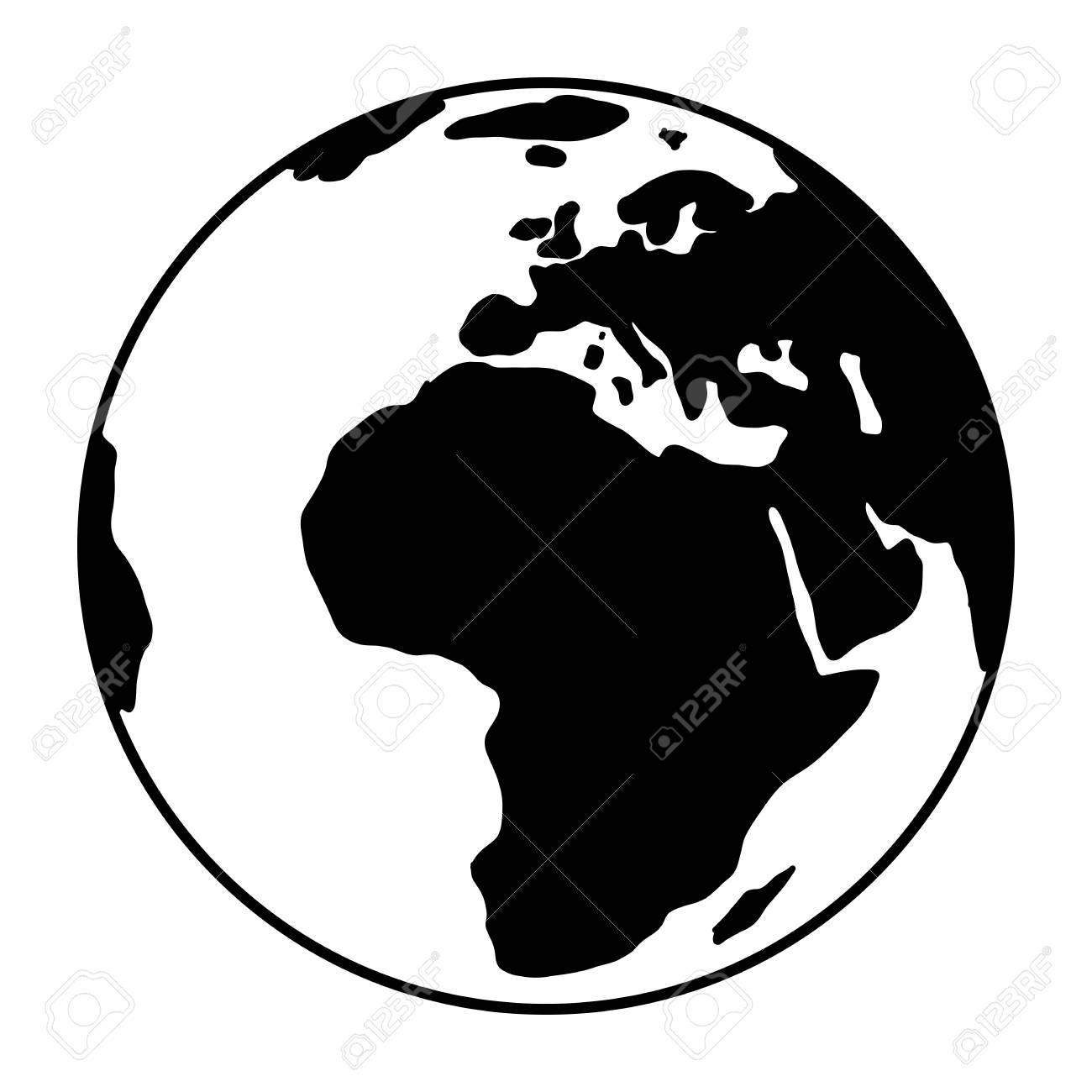 93bc2b2881 A world globe icon. vector earth logo. black web global symbol Stock Vector  -