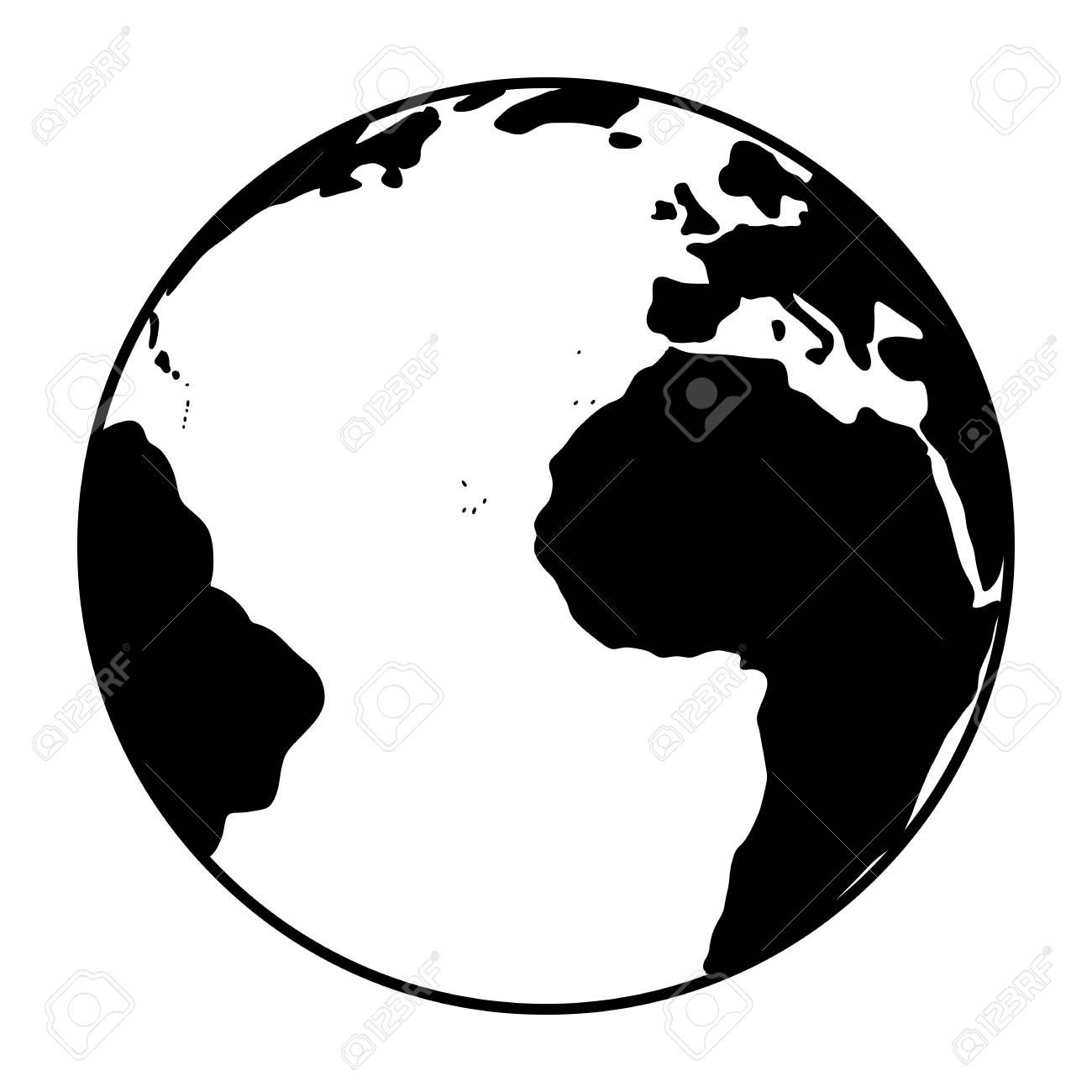 5609f59ace World Globe Icon. Vector Earth . Black Web Global Symbol Royalty ...