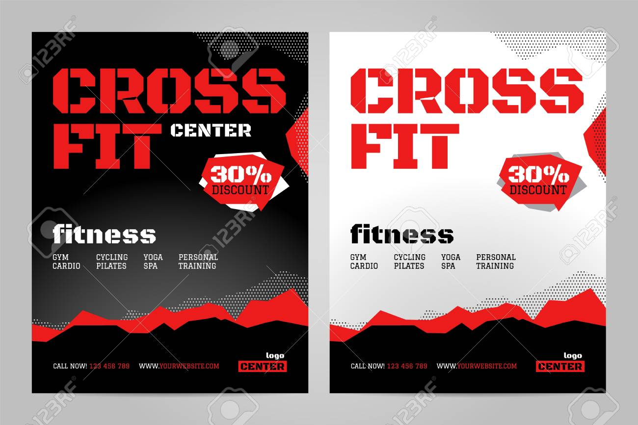 Vector Layout Design Template For Crossfit Or Other Sport Event