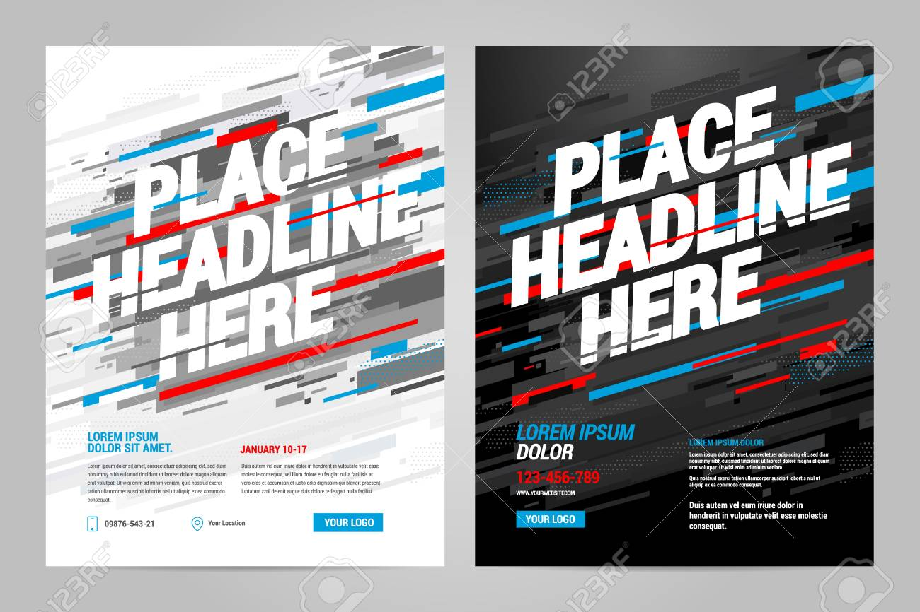 layout design sports invitation template can be adapt to brochure
