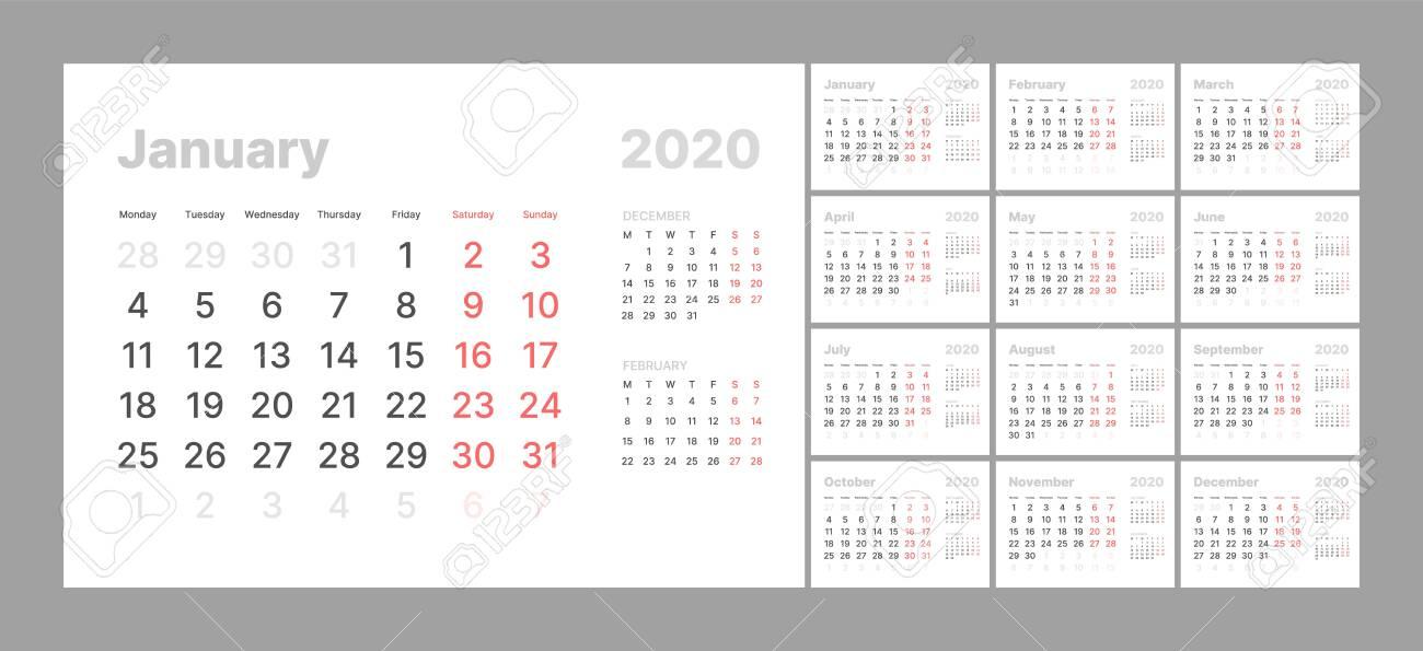 Black Calendar Template from previews.123rf.com