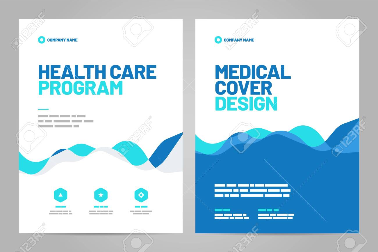 Template design with abstract background for medical layout. Vector design A4 size for poster, flyer, cover or background. - 148981235