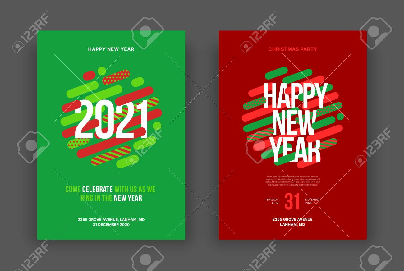 happy new year 2021 and merry christmas layout template vector royalty free cliparts vectors and stock illustration image 153356497 happy new year 2021 and merry christmas layout template vector