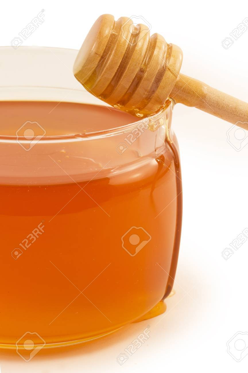sweet, delicious honey in glass jar Stock Photo - 15947889