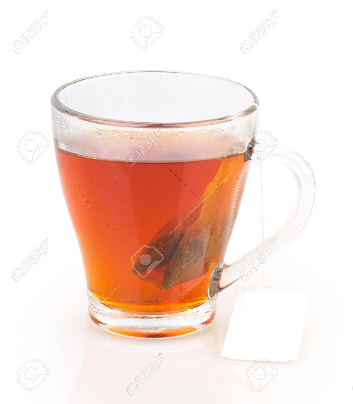 cup of tea with tea bag isolated on white background Standard-Bild - 18620913