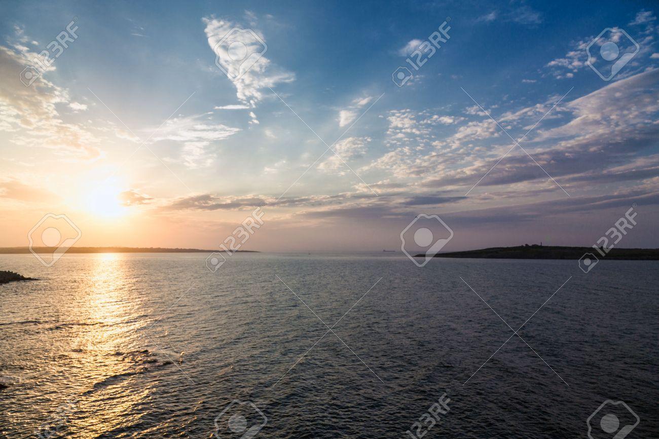 sea sky sunset sun landscape Standard-Bild - 41833578