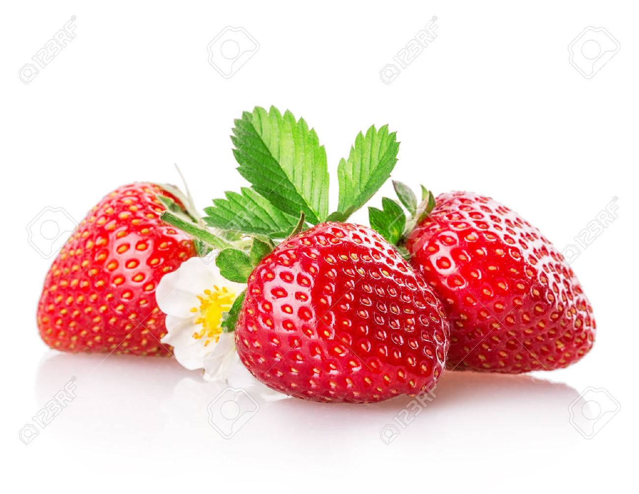 strawberry Isolated on white background Standard-Bild - 41836555
