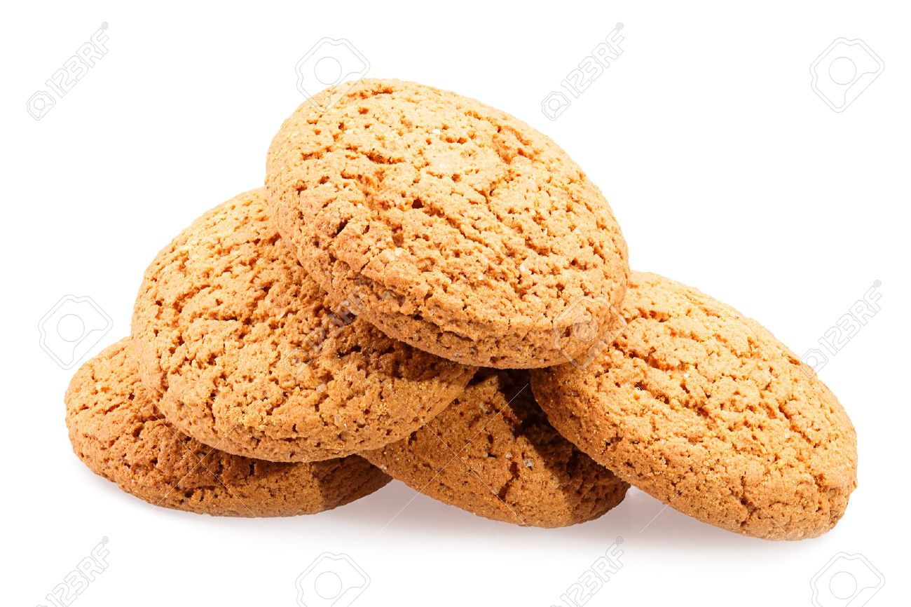 oatmeal Cookies Isolated on white background Standard-Bild - 46355982