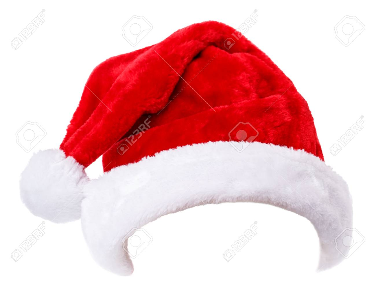 Santa Claus hat Isolated on white background Stock Photo - 51407599 9a4c499e8f6b