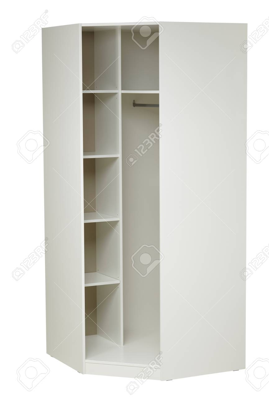 White Corner Wardrobe Isolated On White Background Include Clipping Stock Photo Picture And Royalty Free Image Image 78570308