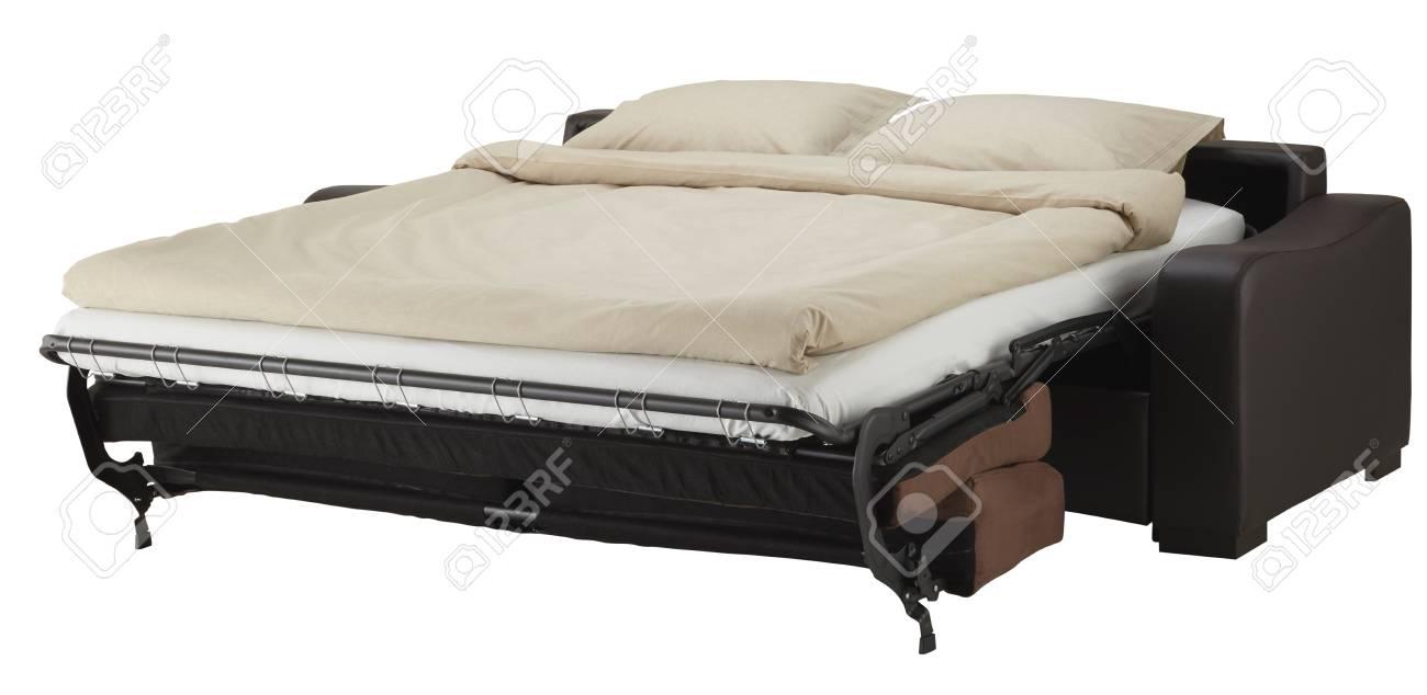 Ecke Couch Bett Isoliert Auf Weiß Lizenzfreie Fotos Bilder Und