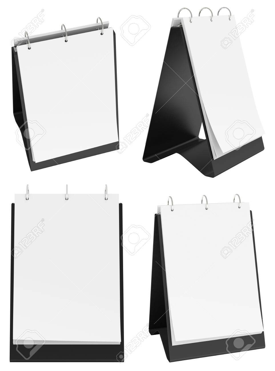 set of blank portrait table top flip chart easel binder or calendar