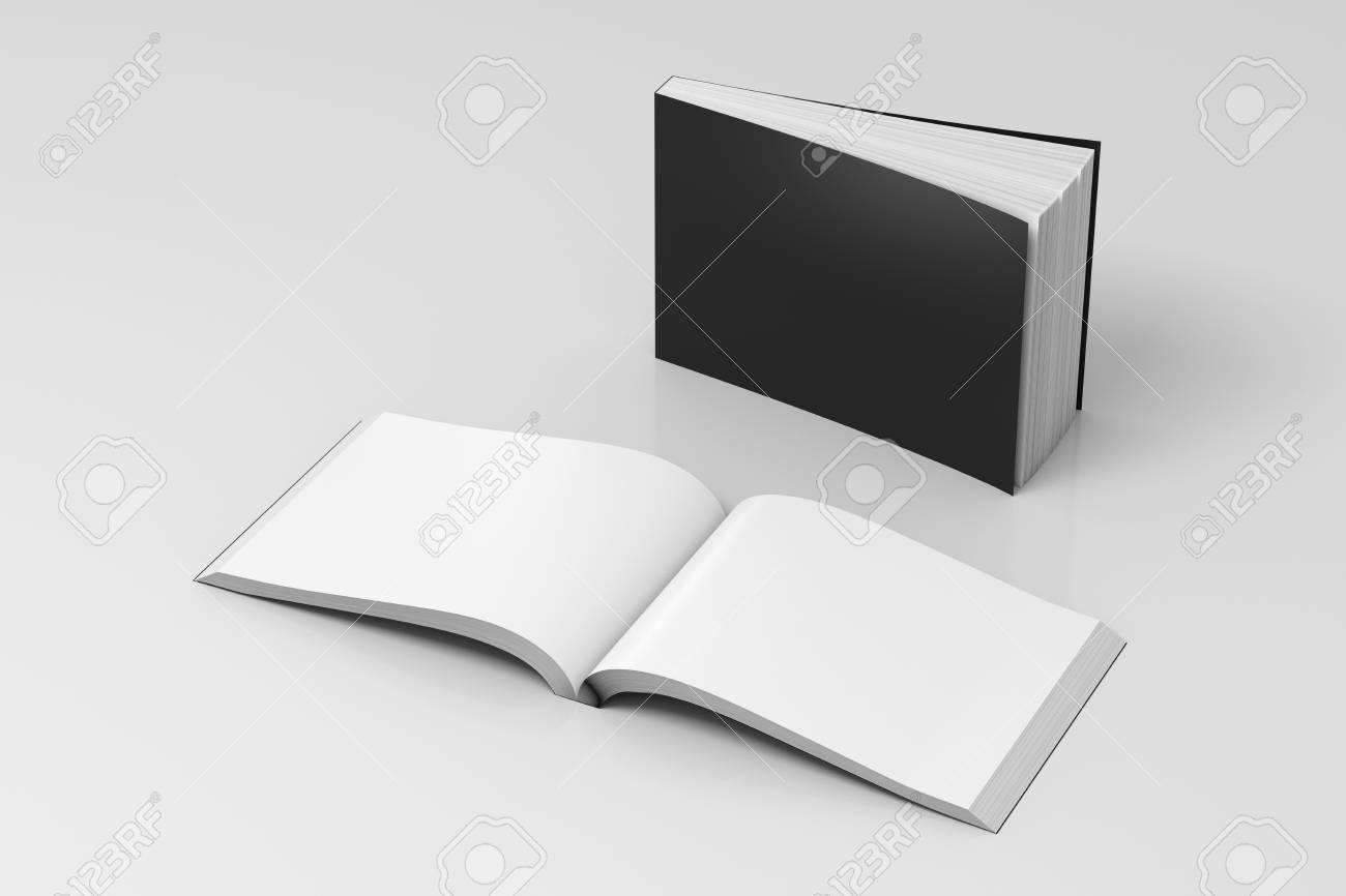 Livres De Couverture Souple Horizontale Noir Blanc Ouvert Et Debout Sur Fond Blanc Isole Avec Un Trace De Detourage Autour De Chaque Livre
