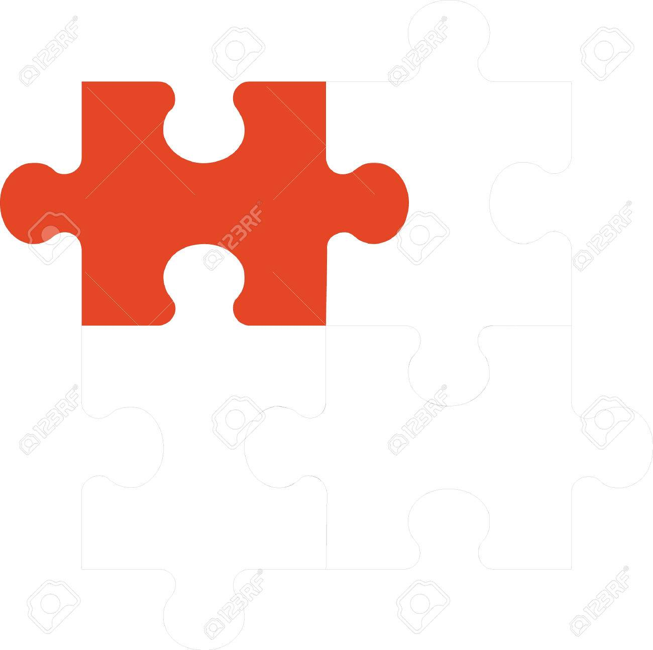 3d puzzle in color 02 Stock Vector - 5067914