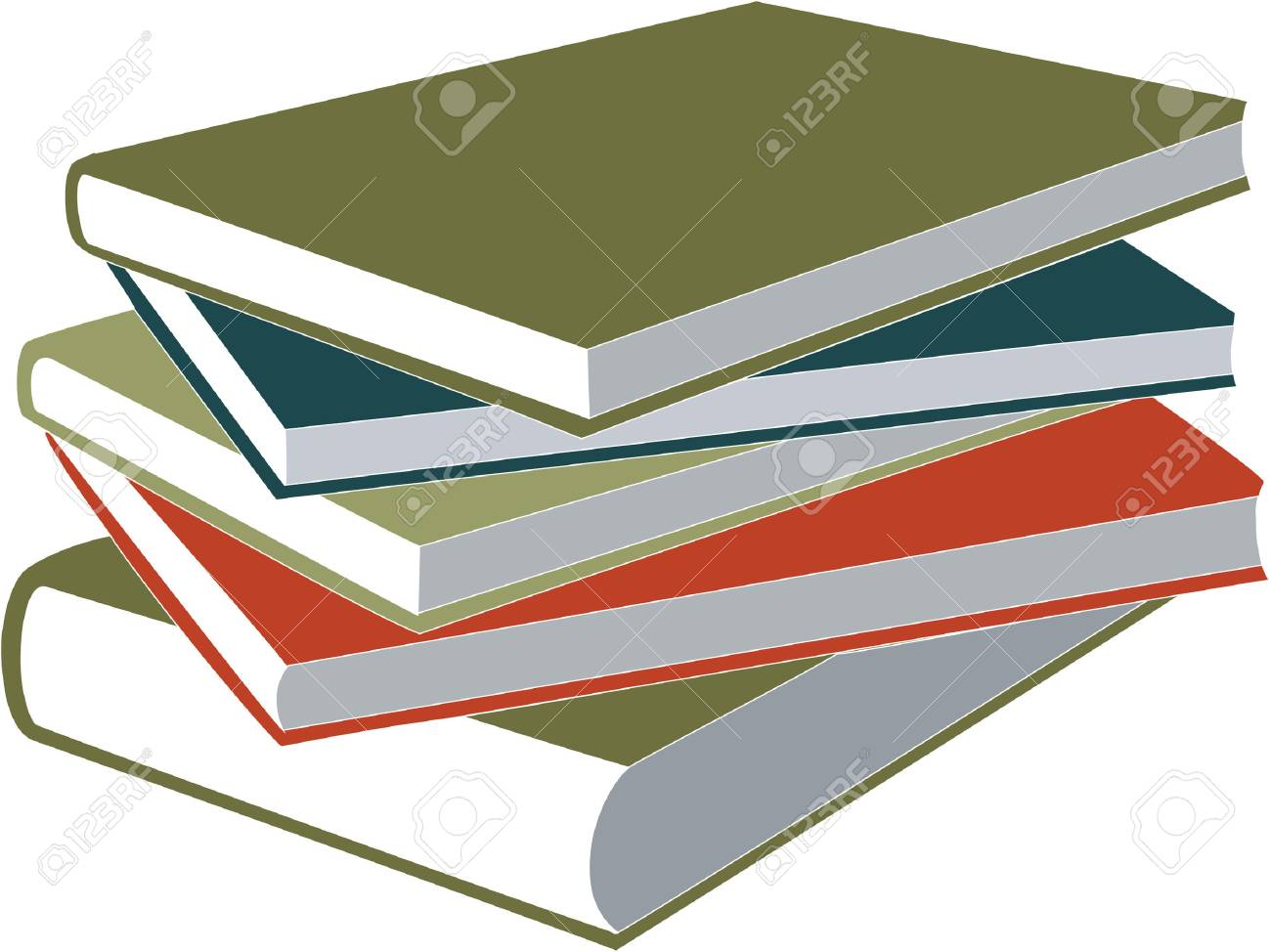 book in color 01 Stock Vector - 5162844