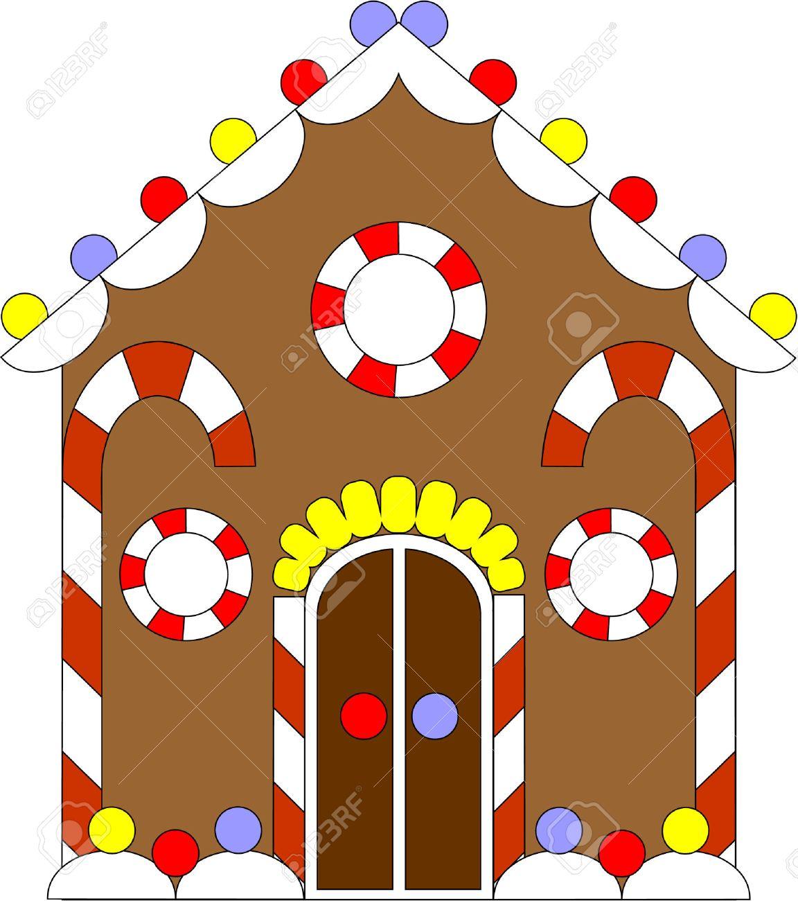 Vector. Gingerbread house color 02 Stock Vector - 5884115