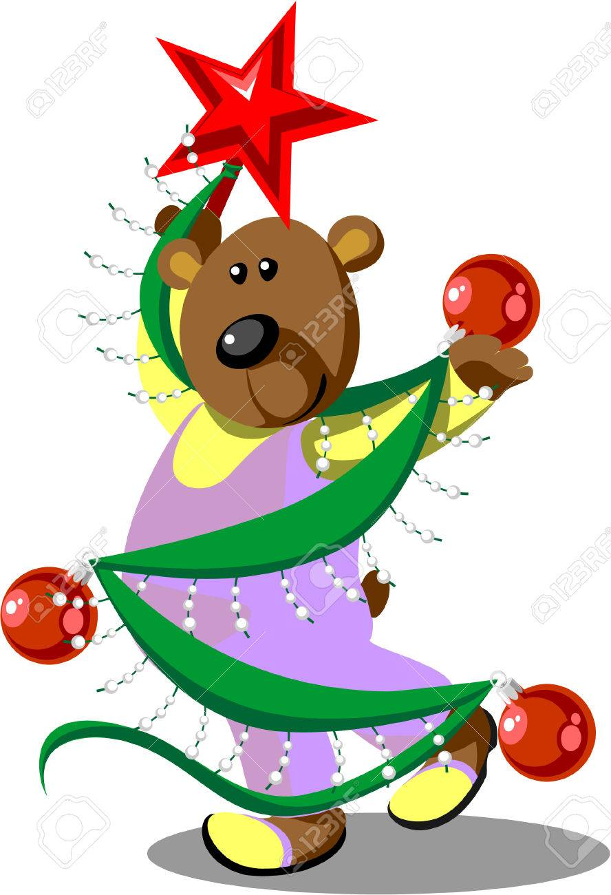 Bear dancing Stock Vector - 5998783