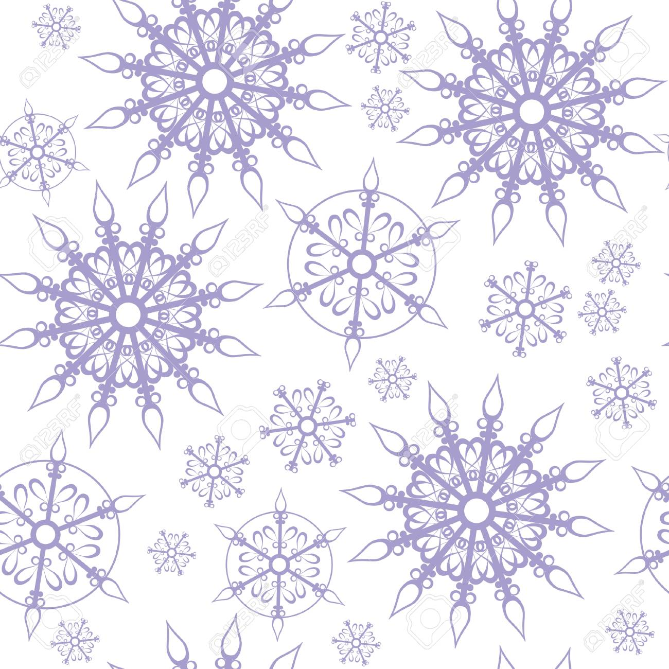 Seamless ornament snowflake Stock Vector - 8159307