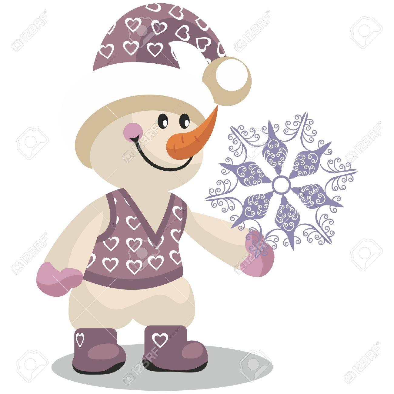 Vector. Snowman in color 10 Stock Vector - 8290231