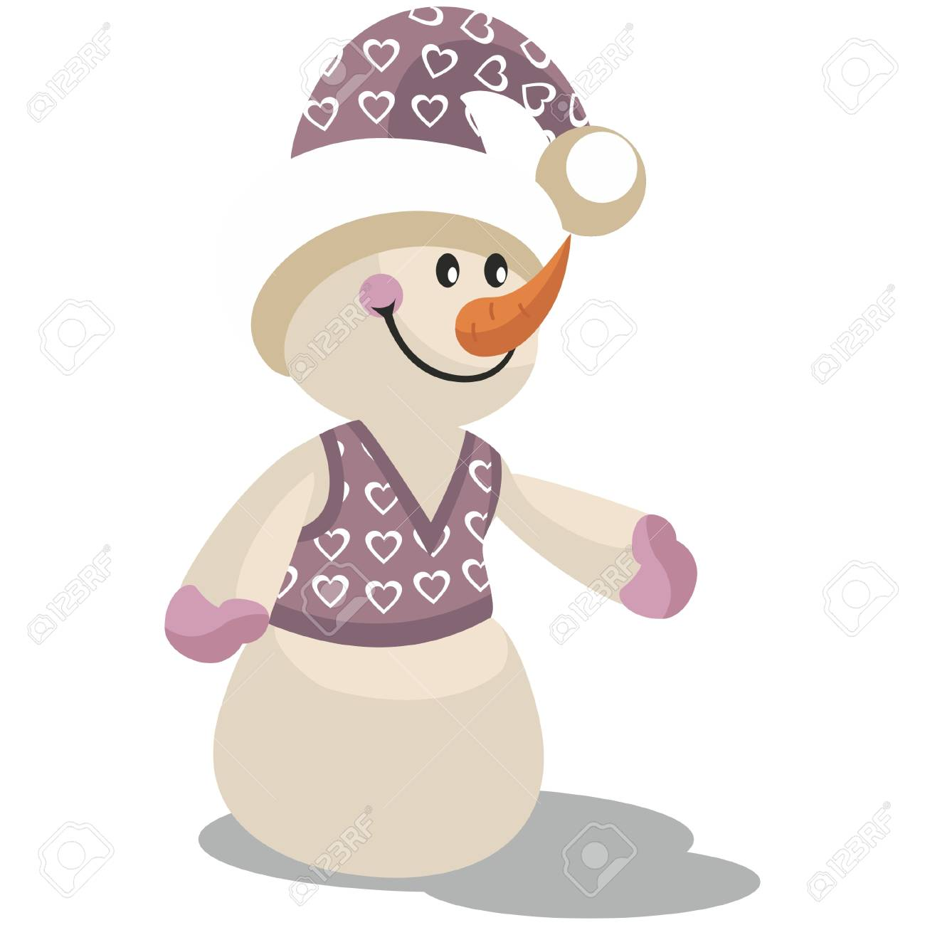 Snowman in color 13 Stock Vector - 8313420
