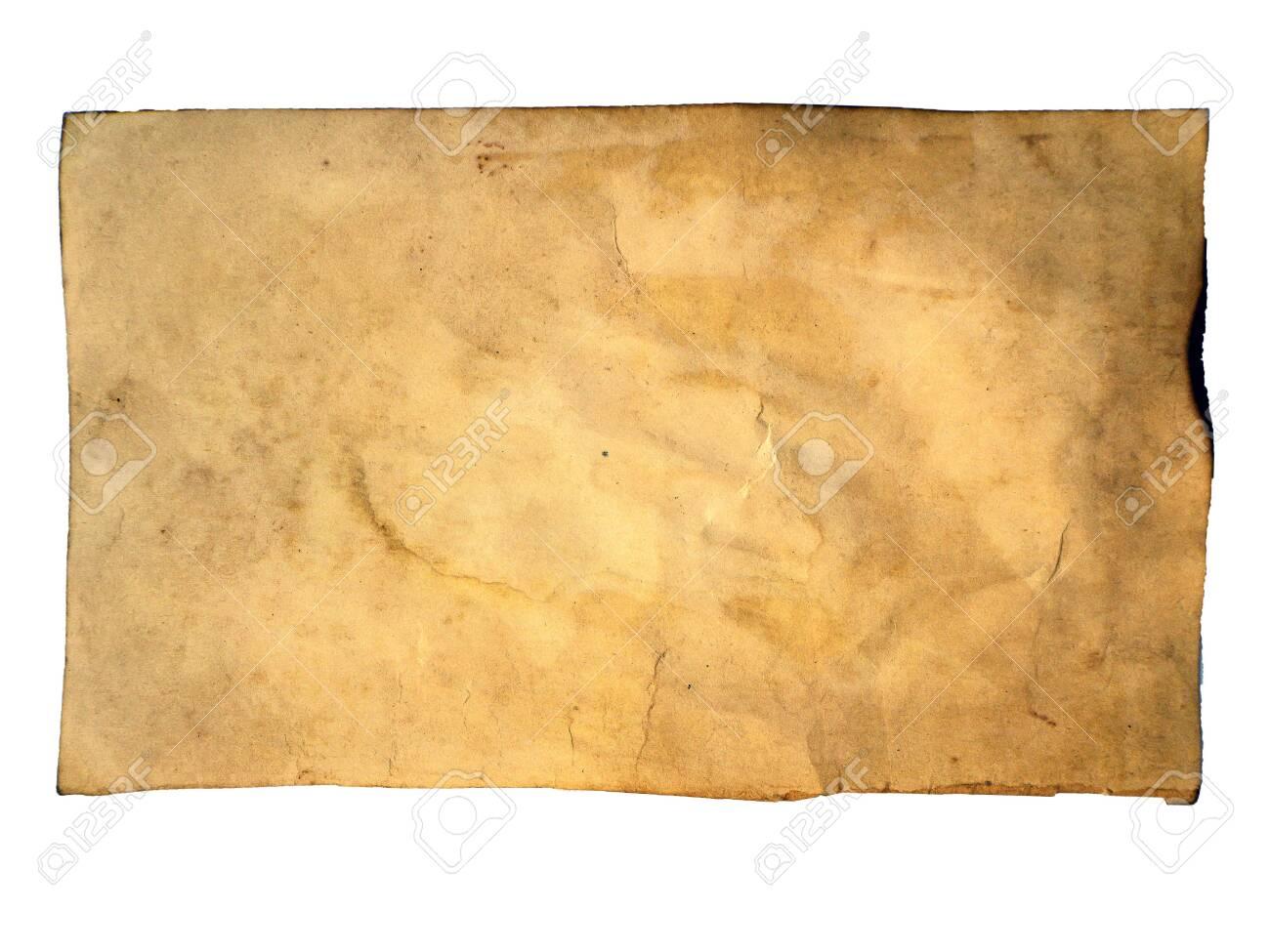 Grunge Crumpled Dirty Beige Paper Sheet Vintage Background Old