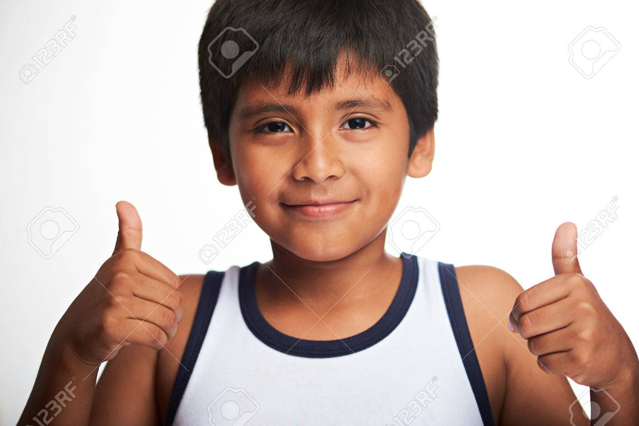 Latino boy thumbs free pic