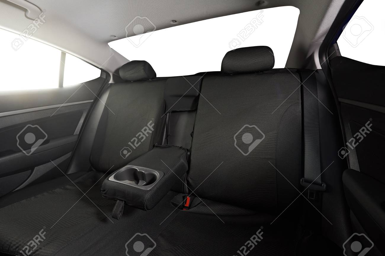 Sedan Back Black Cloth Seats With Isolated Windows Stock Photo Picture And Royalty Free Image Image 68562380