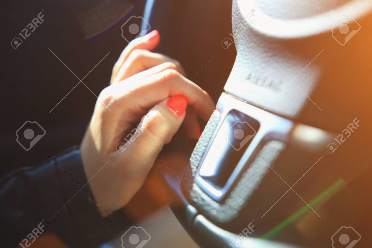 Fingers With Pink Manicure On Steering Wheel Vivid Pink Nails Stock Photo Picture And Royalty Free Image Image 79764933