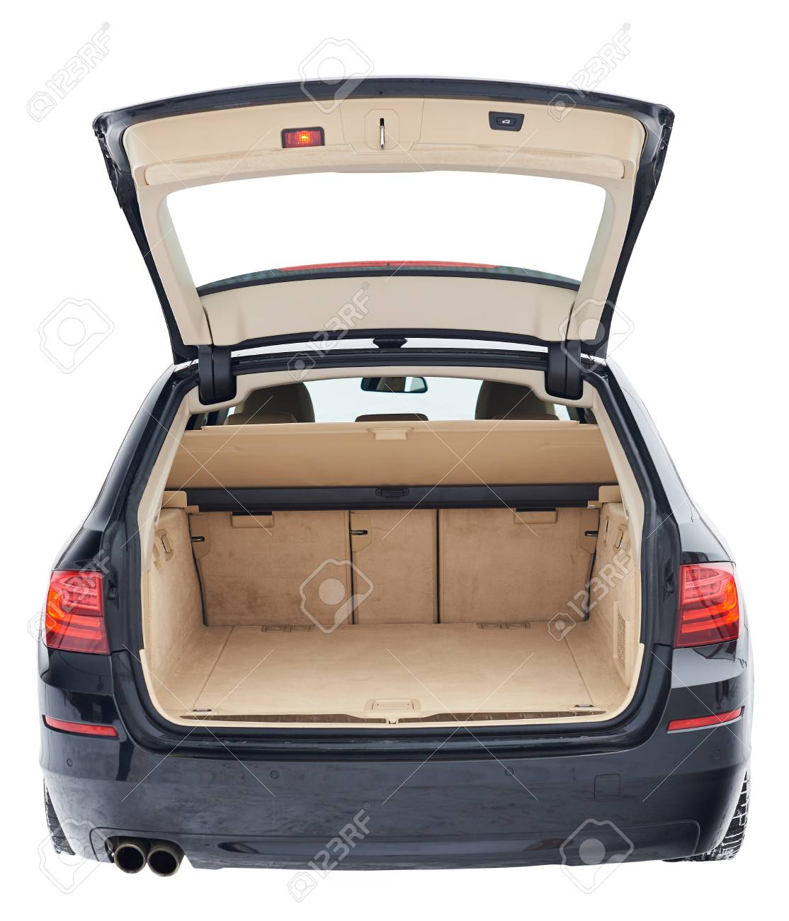 Car with trunk open