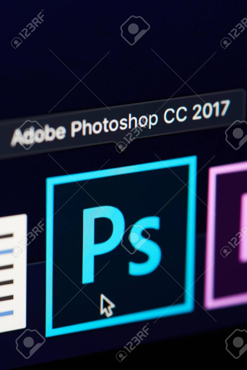 New york, USA - november 15, 2018:Adobe photoshop icon on device