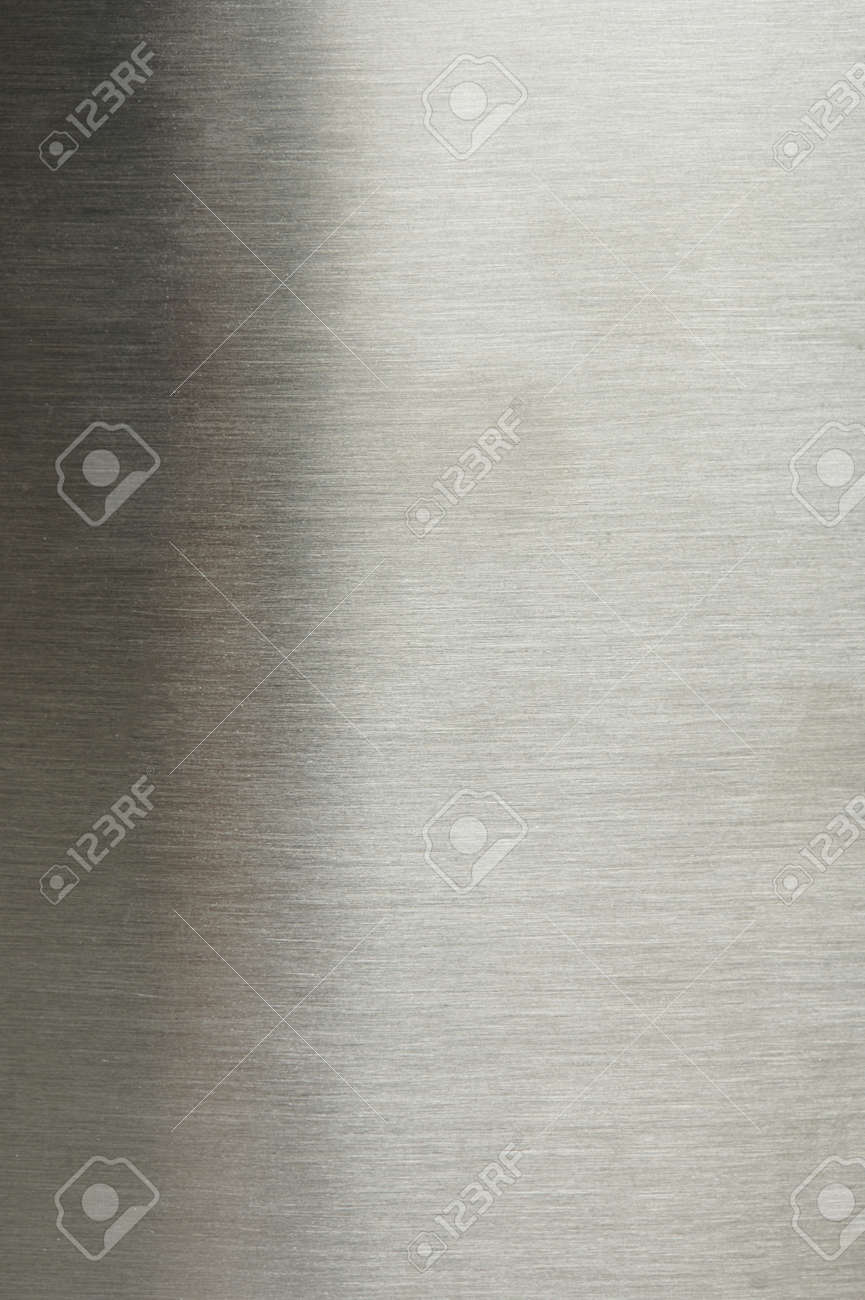 Surface of grey brushed metal background macro close up view - 156328022