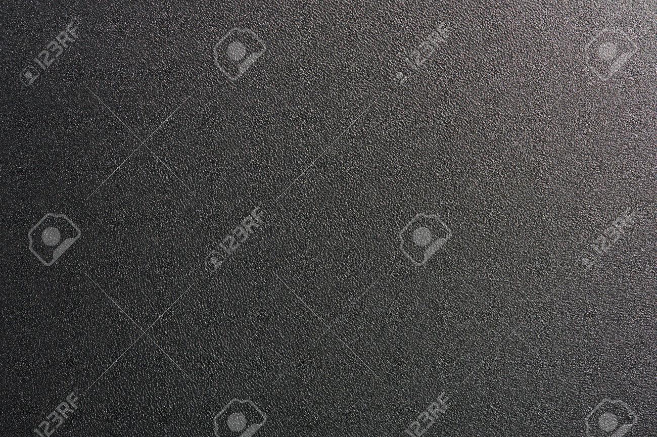 Black metal sheet background. Clean rough matte texture - 171410449