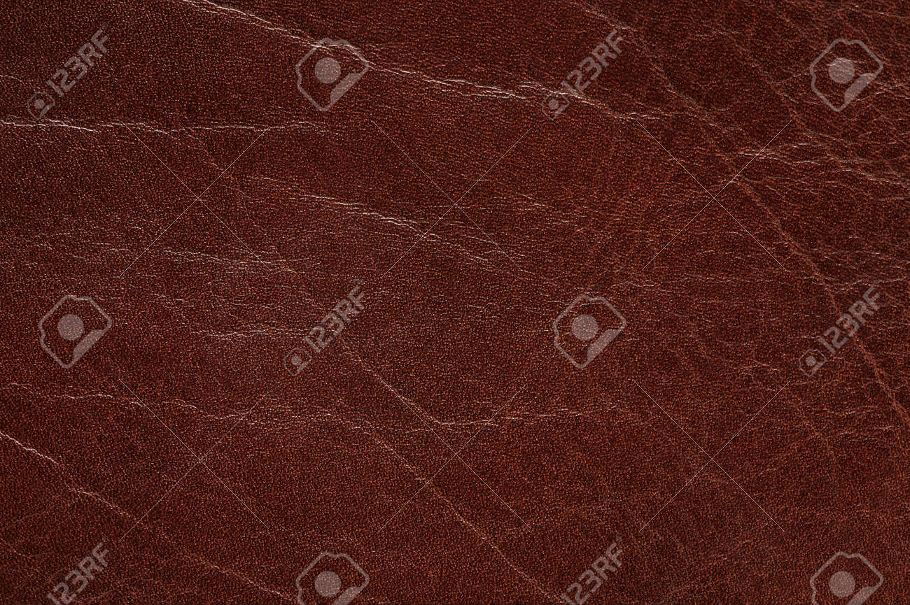 Texture of brown leather background macro close up view - 171759697