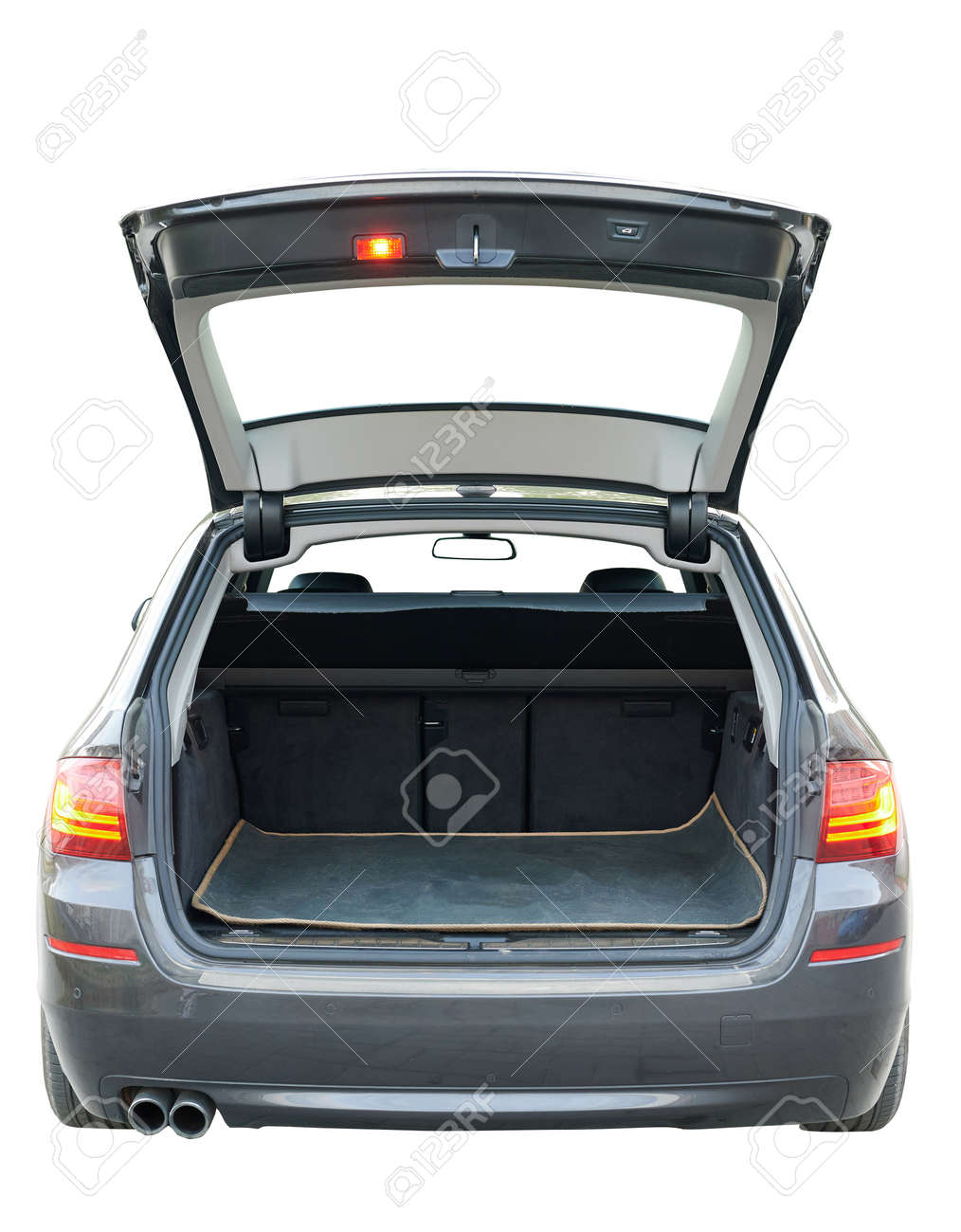 Opened empty trunk of modern car isolated rear view - 171863706