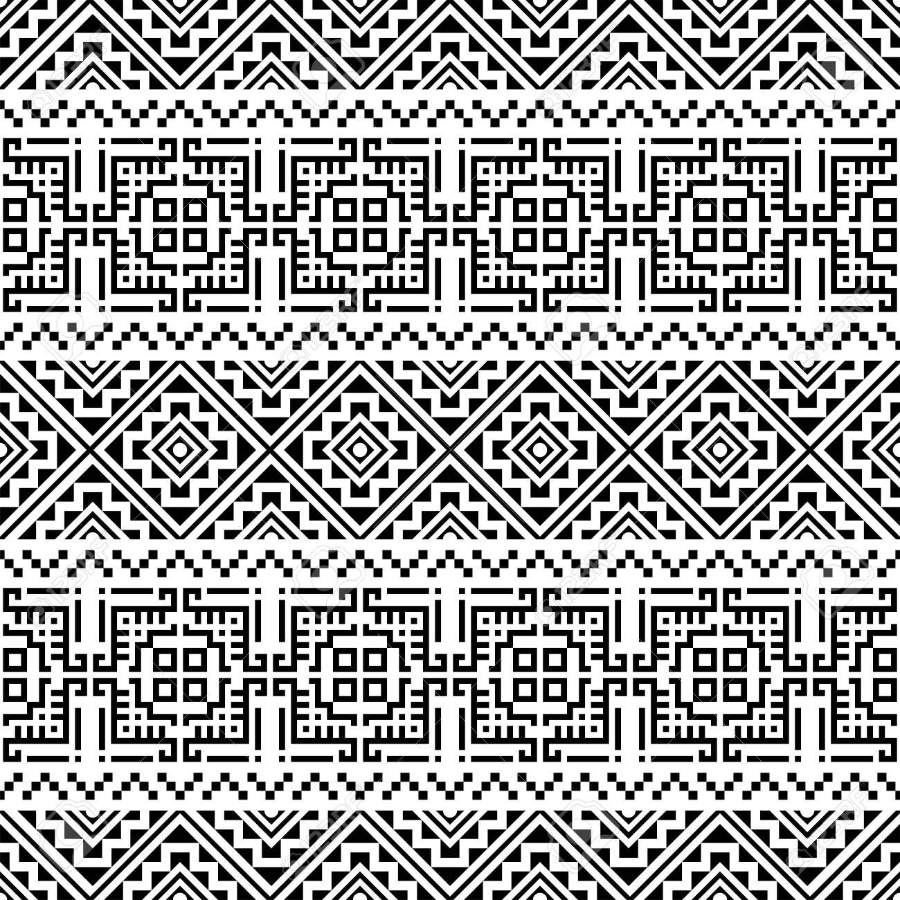 Aztec Seamless ethnic pattern design vector background - 141465709