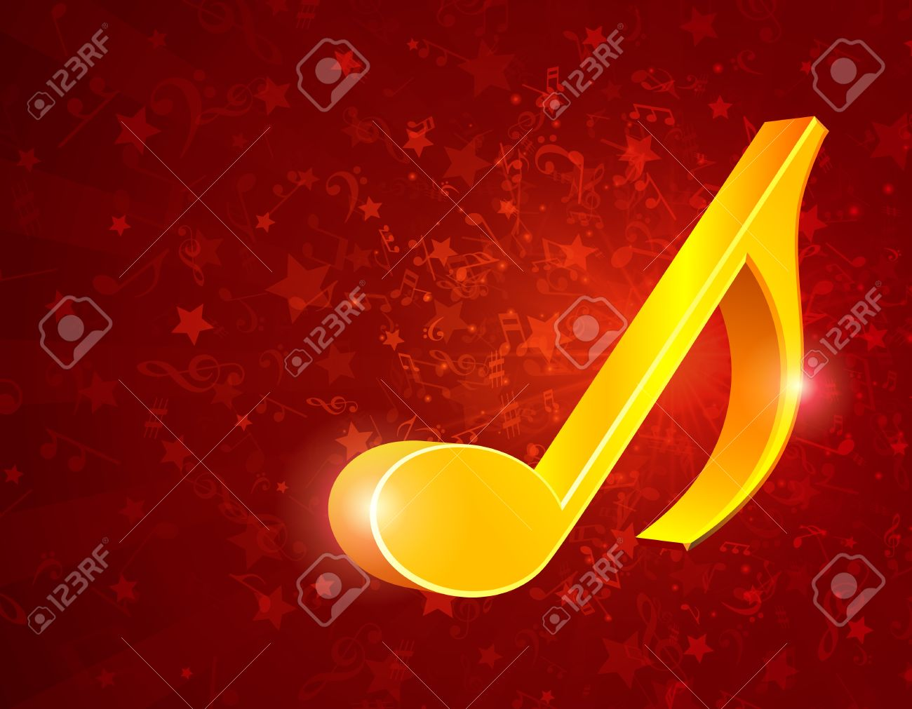 3d music notes background Stock Vector - 13260511