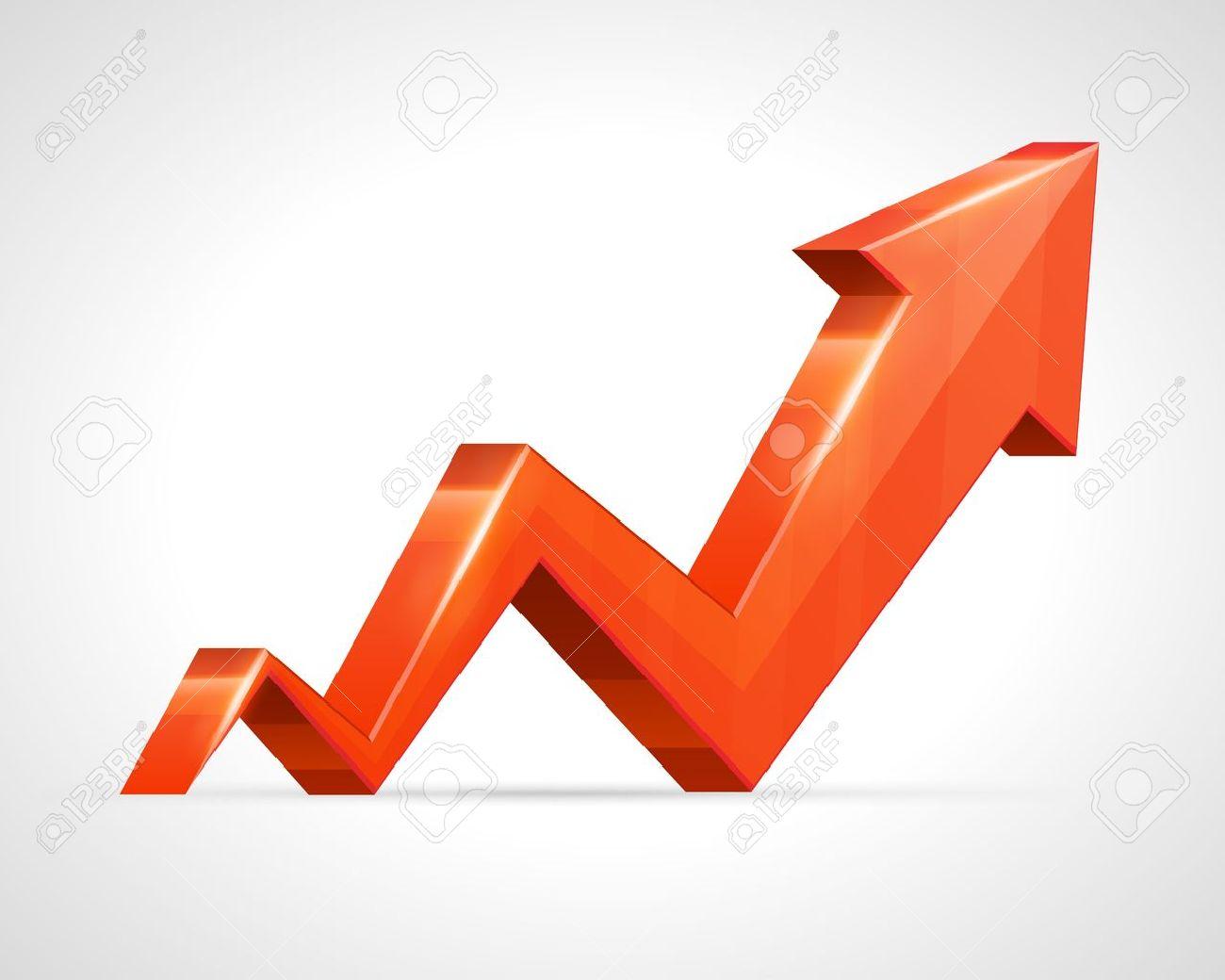 3d arrow graph up background Stock Vector - 13260275