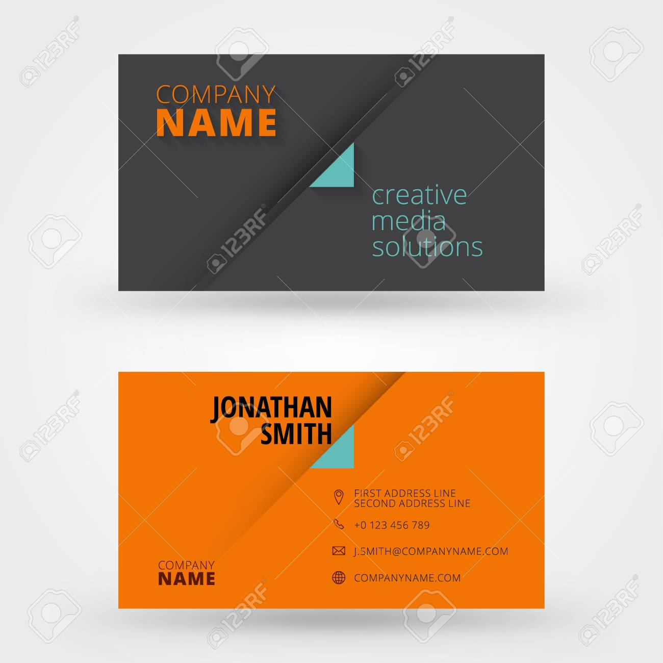 Creative business card vector design print template royalty free creative business card vector design print template stock vector 30890157 reheart Gallery