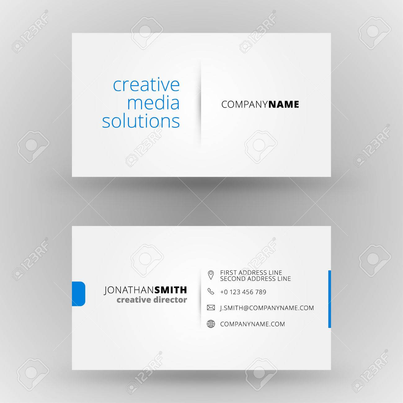 Creative Business Card Vector Design Print Template Royalty Free ...