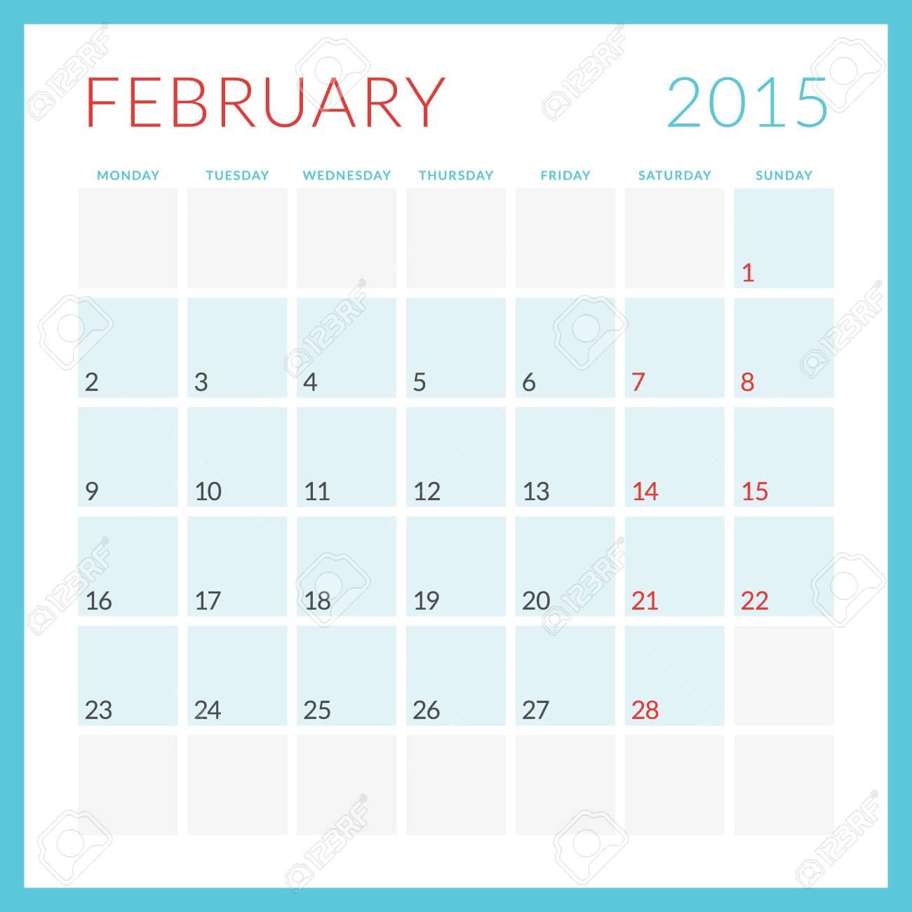 Kalender 2015 Vektor flachen
