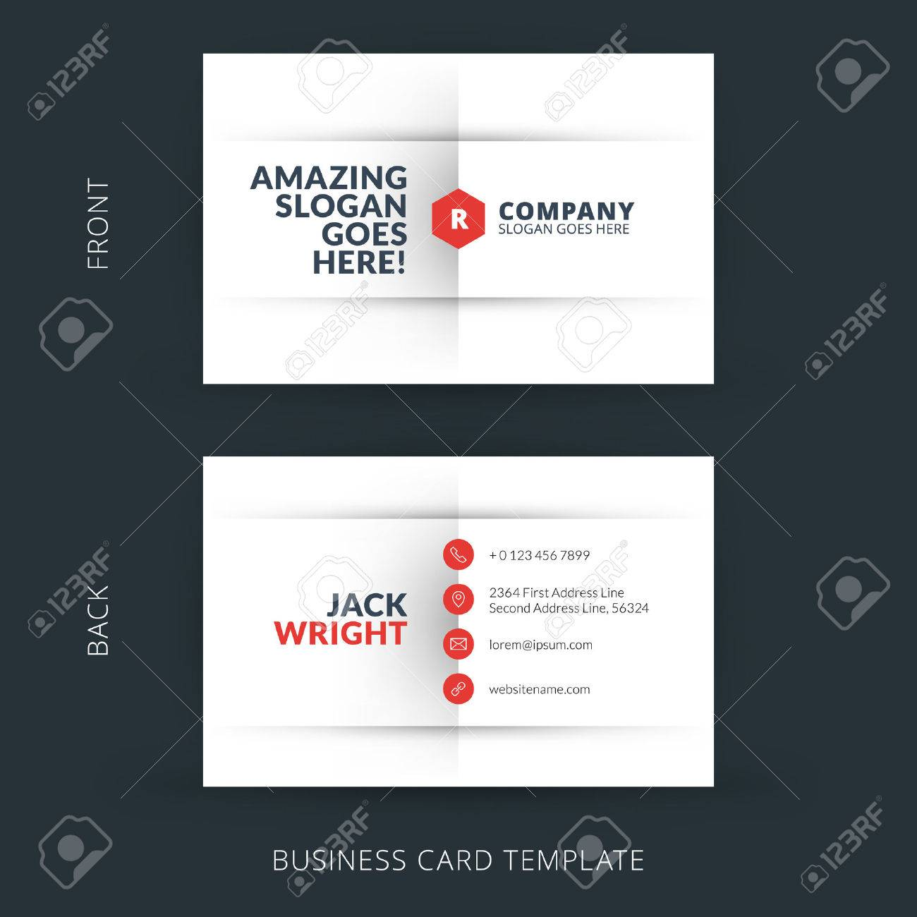 Vector modern creative and clean business card template. Flat design - 36277635
