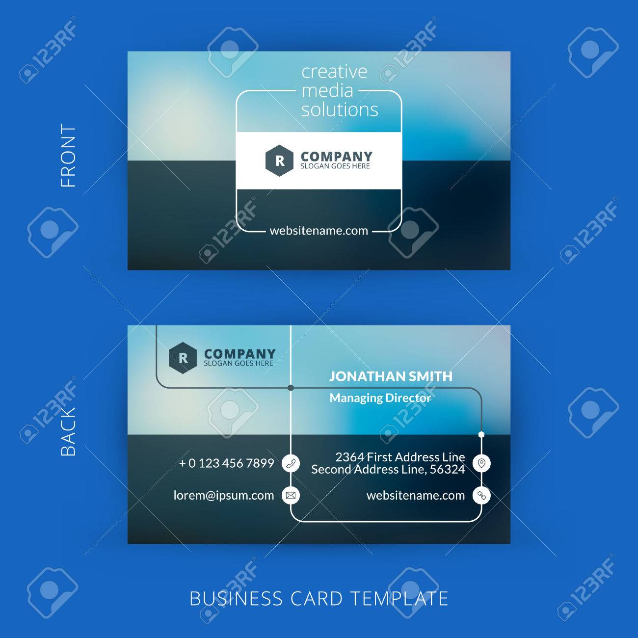 Vector modern creative and clean business card template flat vector vector modern creative and clean business card template flat design wajeb Choice Image