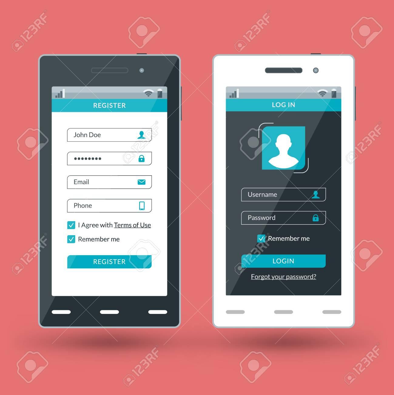mobile apps design template