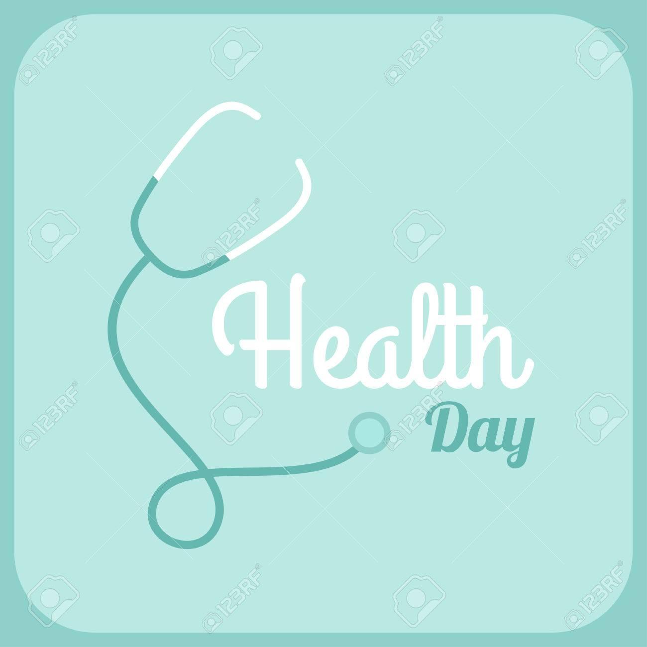 Poster design health - Health Day Celebrating Card Or Poster Design Phonendoscope Stock Vector 38122837
