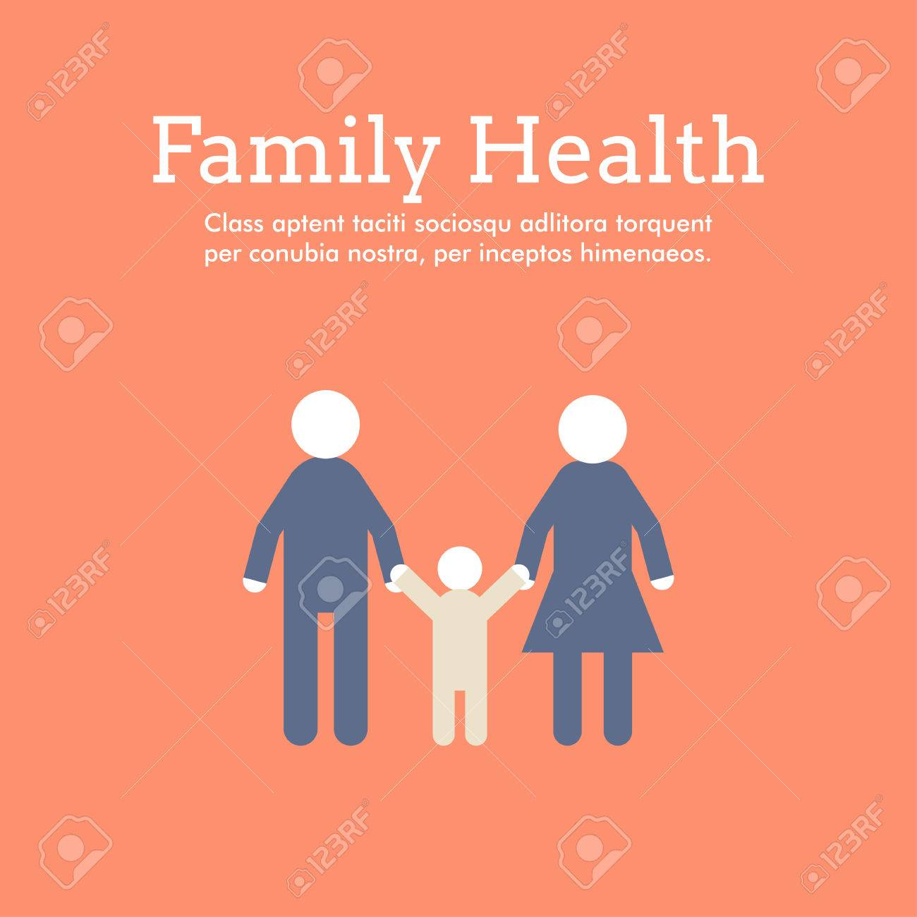 Poster design health - World Health Day Celebrating Card Or Poster Design Family Health Flat Design Stock Vector